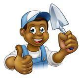 Builder Bricklayer Construction Worker Trowel Tool Stock Photography
