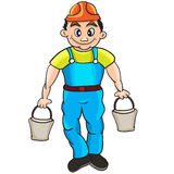 Builder character Royalty Free Stock Photo