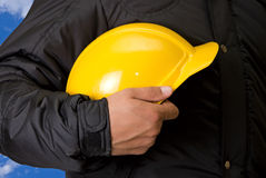 Builder closeup Royalty Free Stock Image