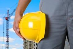 Builder closeup Royalty Free Stock Photo