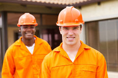 Builder and co-worker Stock Photo