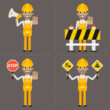 Builder concept prohibiting signs Stock Images
