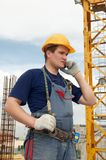 Builder at construction site Stock Photography