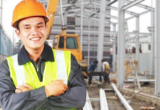 Builder construction worker Stock Photo