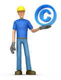 Builder with copyright Royalty Free Stock Images