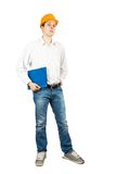 Builder  with documents Stock Image