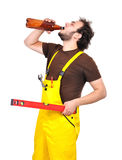 Builder drunk Stock Photos