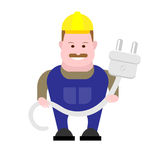 Builder electrician Royalty Free Stock Photos