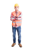 Builder or engineer standing Royalty Free Stock Photography