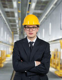 Builder on factory Royalty Free Stock Images