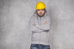 Builder freezes portrait Stock Images