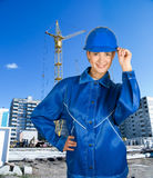 Builder girl Stock Photography