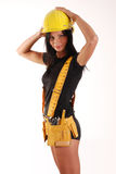 Builder girl Royalty Free Stock Photo