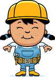 Builder Girl Royalty Free Stock Photos