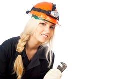 Builder of girl peeps Royalty Free Stock Photos