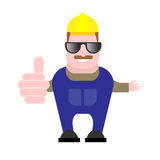 Builder in glasses Royalty Free Stock Image