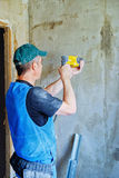 Builder with a hammer Royalty Free Stock Photos
