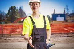 Builder hand shake Stock Photography