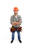 Builder in hard hat Royalty Free Stock Image