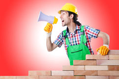Builder with hard hat Stock Photo
