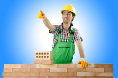Builder with hard hat Royalty Free Stock Image