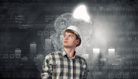 Builder has an idea Royalty Free Stock Image
