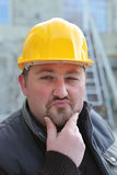 Builder having a great idea Royalty Free Stock Photography