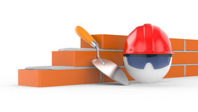Builder in helmet Stock Photos