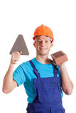 Builder with his tools Stock Photos