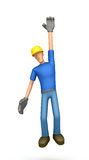 Builder hung Stock Photo