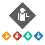 Builder icon Royalty Free Stock Images