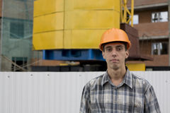Builder inspector Royalty Free Stock Image