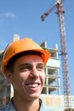 Builder inspector stock image