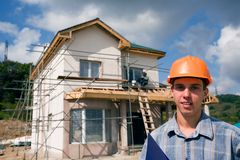 Builder inspector Royalty Free Stock Images