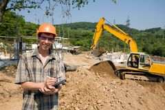 Builder inspector Royalty Free Stock Photos