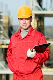 Builder inspector worker Royalty Free Stock Image
