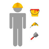 Builder job Royalty Free Stock Photos