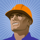 Builder looks into the distance Stock Photography