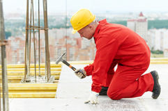 Builder making construction works royalty free stock photos