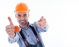 A builder man Stock Photo