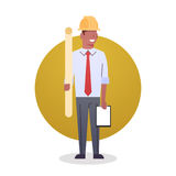 Builder Man Icon Engeneer Occupation Arcitect stock illustration