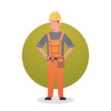 Builder Man Icon Engeneer Occupation Contractor Royalty Free Stock Photo
