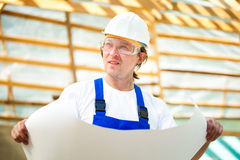 Builder manager Stock Images