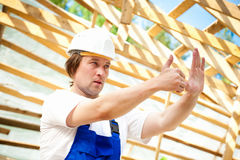 Builder manager Royalty Free Stock Photos