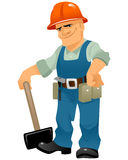 Builder with maul Royalty Free Stock Photography
