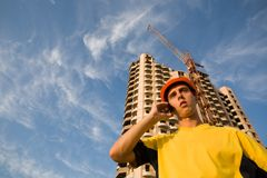 Builder & mobile Stock Photography