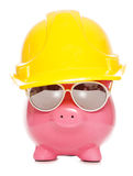 Builder piggy bank Royalty Free Stock Image
