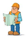 Builder reading plan Stock Image