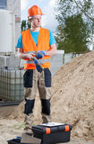 Builder ready to work Stock Photos
