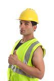Builder repairman thumbs up Royalty Free Stock Photos